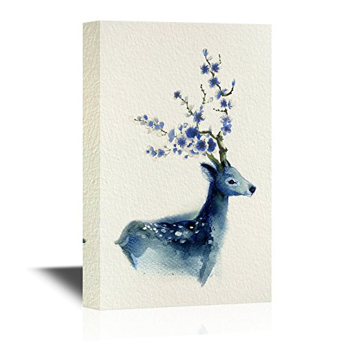Watercolor Style Deer Series Blue Deer