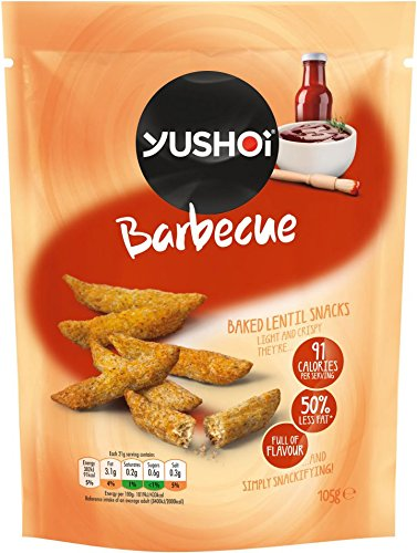 Yushoi Barbecue Baked Lentil Snacks 105g (Pack of 8)