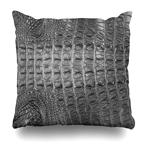 KJONG Crocodile Bone Skin Crocodile Skin Classic and Beauty Picture Printing Square DecorativePillow Case 20 x 20inch Zippered Pillow Cover for Bedroom Living Room(Two Sides Print) (Classic Print Pillow Pack)