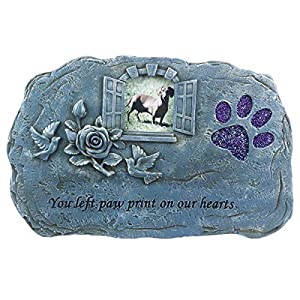 BJSM Pet Memorial Stone, Evergreen Garden Pet Paw Print Memorial Stone, Loss of Pet Gift (Paw Print) 6