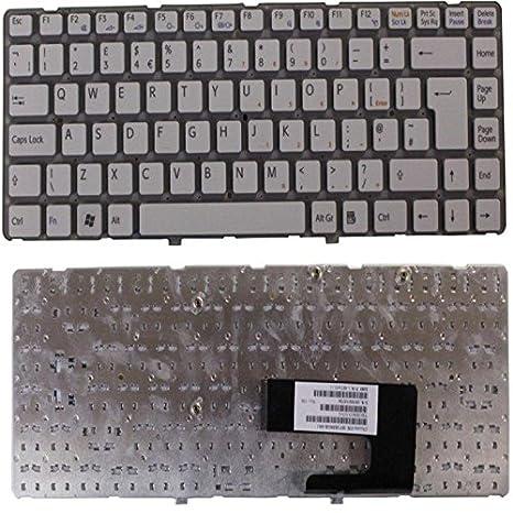 NEW PCG-7183M PCG-7185M SONY VAIO teclado para ordenador portátil blanco UK alineación de: Amazon.es: Electrónica