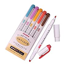 Zebra Mildliner Soft Color Double-Sided Highlighter Pens Deep, Warm & Cool (Yellow Pack) by Zebra