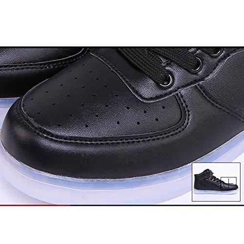 Accendono Sneakers Uomo Sportive Uomo Luminosi Scarpe Scarpe Scarpe con Donna Nero Donna Luci DoGeek Unisex LED Le qYnwpZYOP
