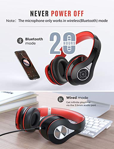 Mpow 059 Bluetooth Headphones Over Ear HiFi Stereo Wireless Headset Foldable Soft MemoryProtein