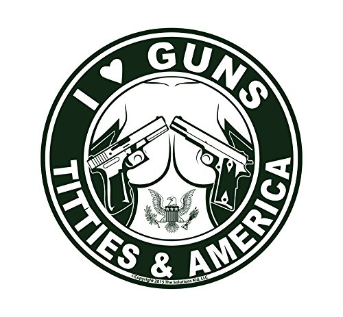 I Love Guns, Titties, & America Decal - MADE IN USA - THE ORIGINAL!