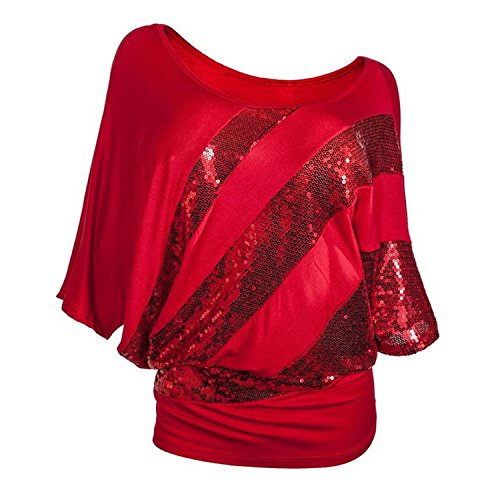 Femme Shirt Top T JLTPH Paillette tBOPAq