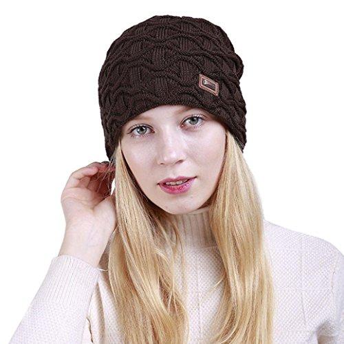 Hemlock Winter Knit Hats, Unisex Women Warm Hats Skiing Caps Hat Outdoors Berets Sport Hats (Coffee)