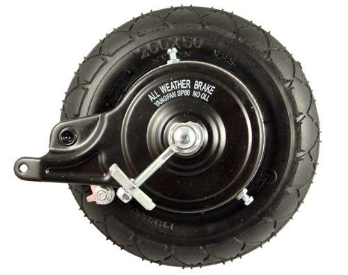 Razor E200 Rear Wheel Assembly (V36+) - Factory Original Razor Scooter Replacement 200x50 Rear Wheel - E200S / E225 - Part W13112430048 by Razor