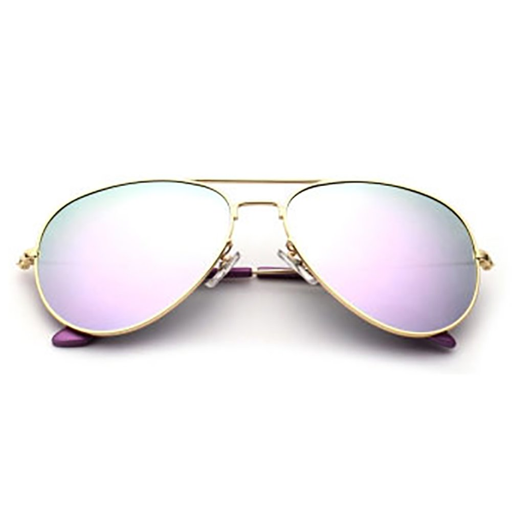gold Frame Light Purple XINGZHE Sunglasses  Polarized, UVResistant, Large Frame, Stylish and colorful, Ladies Shopping, Driving, Street Shooting, a Total of 8 colors to Choose from Sunglasses (color   gold Frame orange)