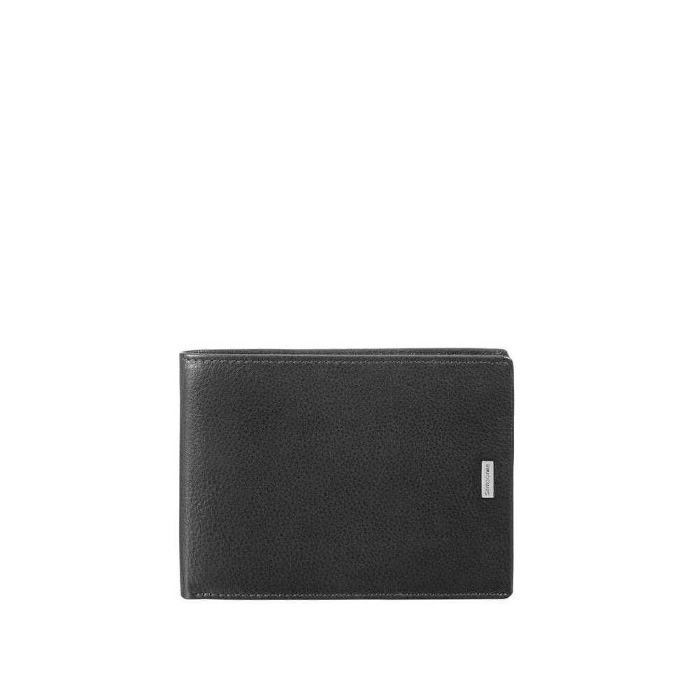SAMSONITE NYX 3 SLG - Billfold for 7 Creditcards, 2 Compartments Kreditkartenhü lle, 13 cm, Black 87960/1041