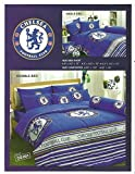 CHELSEA Football Club Bed Fitted Sheet Set (Queen size, CS001) 4 Pieces Set : 1 Bed Fitted Sheet, 2 Standard Pillow Case and 1 Standard Bolster Case