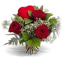 Ramo 3 rosas rojas - Flores naturales a domicilio en 24h - Flores frescas - Regalo ENAMORADOS día de San Valentín con…
