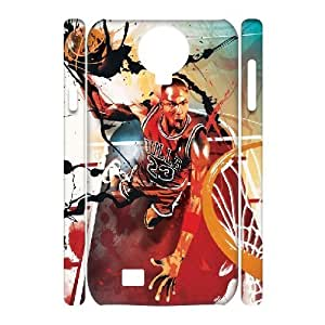 3D Yearinspace Michael Jordan 23 Splatter Samsung Galaxy S4 Case Cheap For Boys, Samsung Galaxy S4 Case [White]