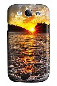 Cool Designed Designs Sunset Scene Design Protective Back Case Cover for Samsung s3