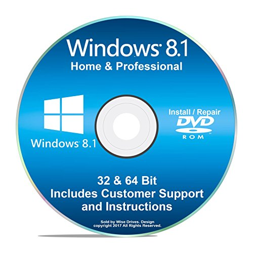 Windows 8.1 Recovery Disc All Editions Windows 8 Home & Professional Repair Re-install Recover Restore & Reboot for Laptop Desktop Dell HP *ANY Brand* w/ Tech Support (Laptop Boot Hp For Disk)