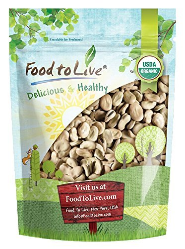 Organic Fava Beans by Food to Live (Broad Beans, Non-GMO, Kosher, Raw, Sproutable, Dried Vicia Faba, Bulk Seeds, Product of the USA) - 3 Pounds