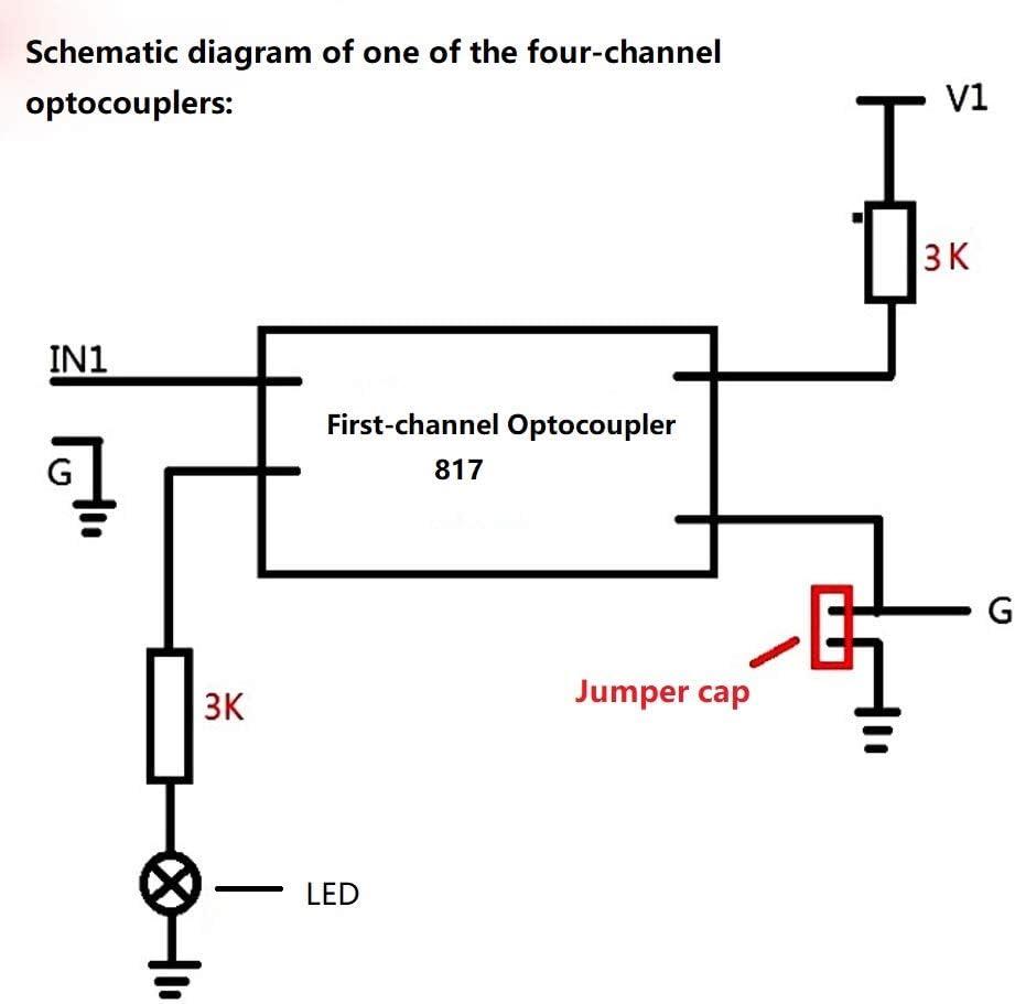 PC817 4-Channel Optocoupler Isolation Module Voltage Converter Module B/_PF