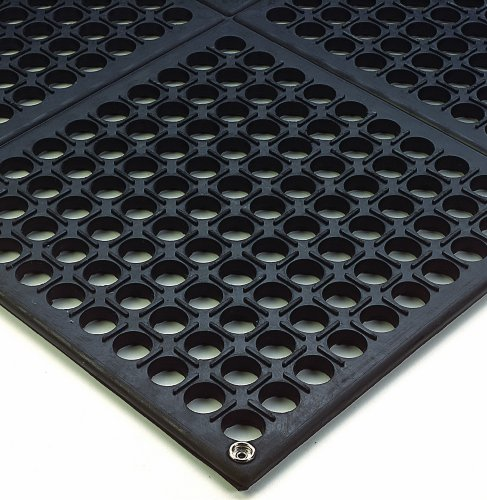 Wearwell Industrial Worksafe Mat - Wearwell Natural Rubber 789 Modular Worksafe Light Conductive ESD Mat, for Static Control , 3' Width x 3' Length x 1/2