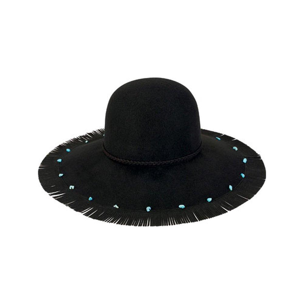 San Diego Hat Company Women's Wool Felt Floppy Hat, Black, OS