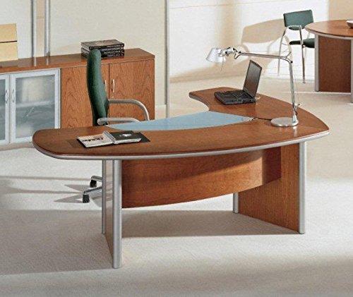 Mesa Oficina Badem Cristal + Ala Izquierda Ribera - LuxoMobel ...
