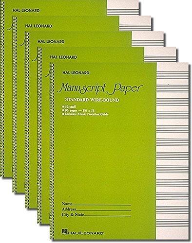 Hal Sheet - Hal Leonard Manuscript Book (Pack of 5)