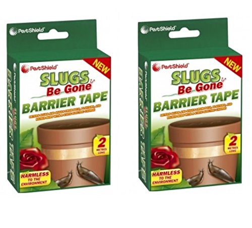 2 x Pestshield Slugs Be Gone Copper Barrier Slugs Snail Repellent Tape Pots Planters 151