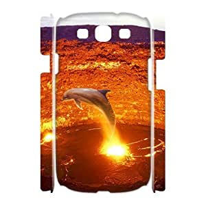 Dolphin Phone Case For Samsung Galaxy S3 I9300 [Pattern-1]