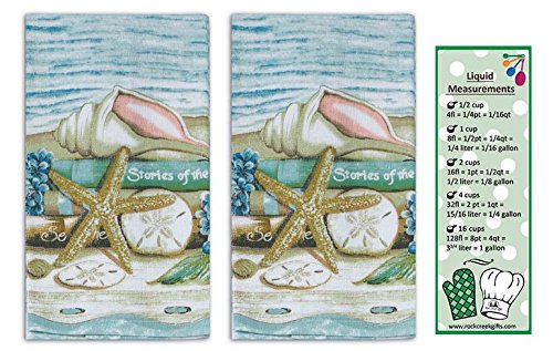 (Stories of the Sea 2-Piece Terry Towels from Kay Dee Designs with Bookmark)
