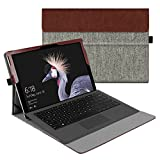 Fintie New Surface Pro 2017 / Surface Pro 4 Case, Multi-Angle Viewing Portfolio Business Cover for Microsoft Surface Pro 2017 / Pro 4 / Pro 3, Compatible with Type Cover Keyboard - Denim Grey