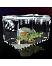 Pudełko do karmienia owadów przezroczyste pudełko do hodowli gadów akrylowe pudełko do karmienia gadów dla owadów gadów Lore Gąsienice krykiet pająk ślimak