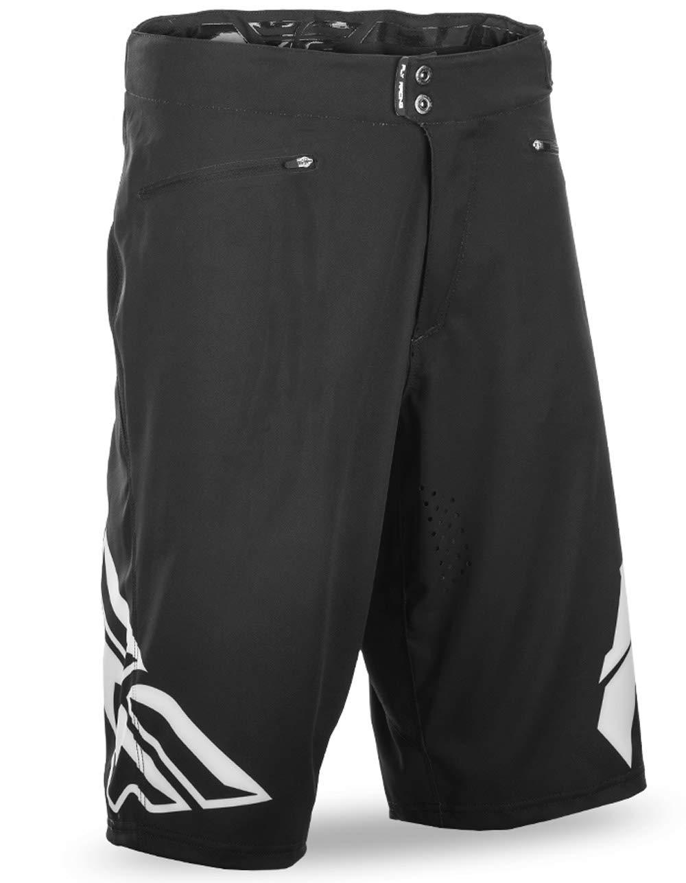 Fly Racing Unisex-Adult Radium Shorts Black/White Size 38 by Fly Racing