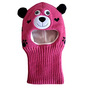 Frost Hats Warm Winter Hat Fleece Lined Balaclava for Kids Ski Mask for Girls M-BAL-BEARG