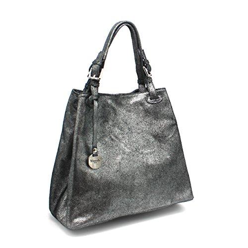 cabas école irisé en irisé porté à Noir porté 2018 les main sac jours sac femme sac cuir épaule collection Sac cuir d'Italie tous intemporel étudiante Lima été R0wAqW
