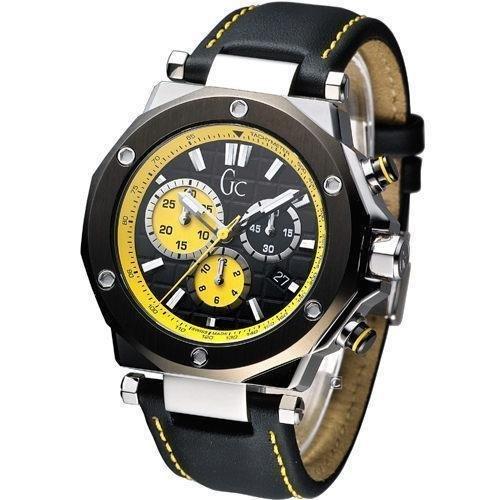 Guess Men's Sport Chic GC-3 Watch - Black/Yellow X72020G2S New