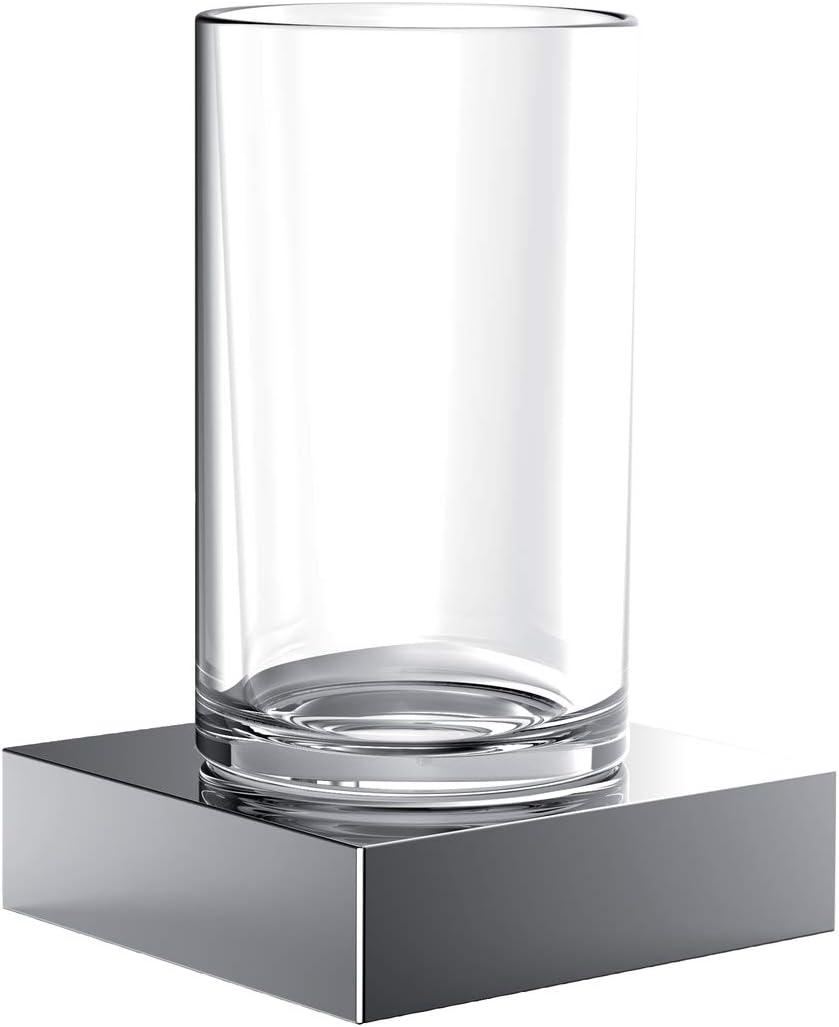 Emco Liaison Cristal Soporte, Cristal/Cromo, portavasos para ...