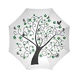 Yananka Umbrella,Compact Storage - Ideal Travel Accessory Fits Men & Women, Gift Choice 43.4''(W) x 25.6''(H) (8 Ribs),Bird