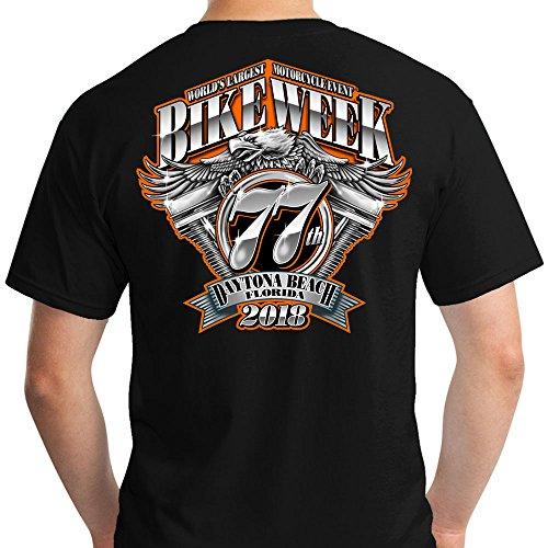 2018 Daytona Bike Week Official XL Black Licensed T-Shirt (Daytona Bike Week 2018)