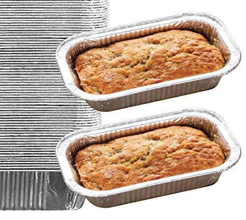 35 Pack - 2LB Loaf Pans, Aluminum Loaf Pans, Bread Pans, Meatloaf Pans l Cake Pan, Foil Loaf Pans, Disposable Aluminum, l Top bakery's choice Tin Pans - Standard Size, 2 Pounds - 8.5