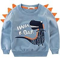 Csbks Kids Cotton Sweatshirt Boys Long Sleeve Pullover Tops Toddler 2-8 Years