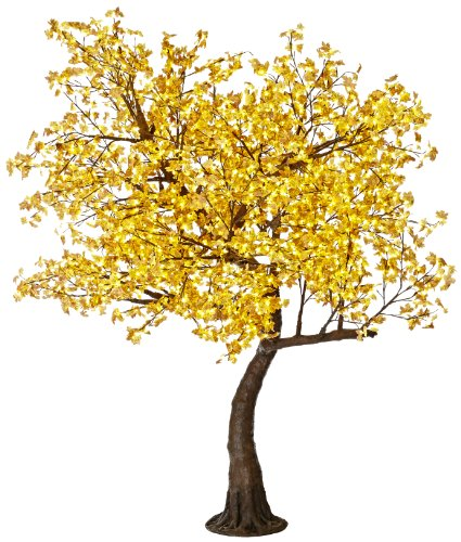 Arclite NBL-TTM-280 Aboretta Maple Tree with Multicolor Textile Leaves, 10' Height, with Natural Brown Trunk, Warm White Lights