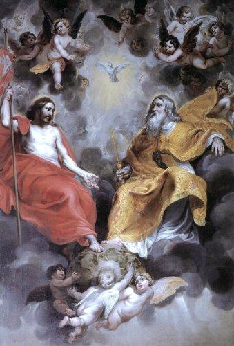 Hendrick Van Balen Holy Trinity - 16'' x 24'' Premium Canvas Print by Art Oyster