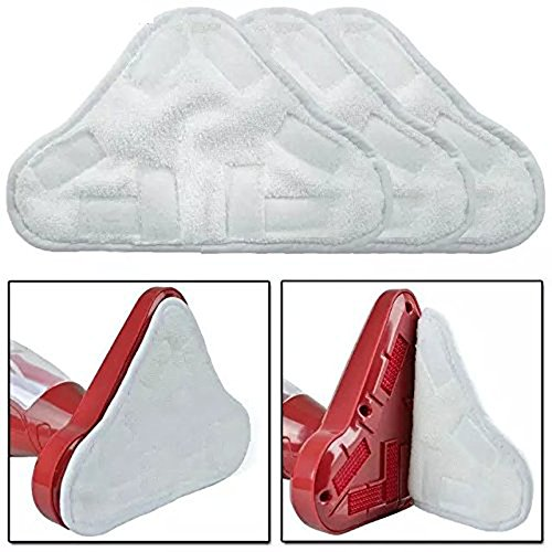 EcoMaid Accessories For Set Of 6 Microfibre Steam Mop Floor Washable Replacement Pads For H2O H20 X5