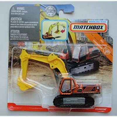 Matchbox CONSTRUCTION, ORANGE/YELLOW EXCAVATOR WORKING RIGS: Toys & Games