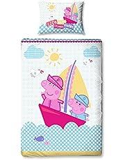 Peppa Pig Nautisch paneel print dekbedovertrek set, polyester, meerkleurig, single