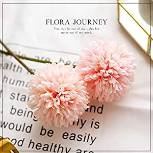 Jasion 10pcs Artificial Chrysanthemum Ball Flowers Bouquet for Present Home Office Coffee House Parties and Wedding Decoration 3