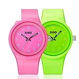 Luminous waterproof watch/Korean version of the simple matching watches-O