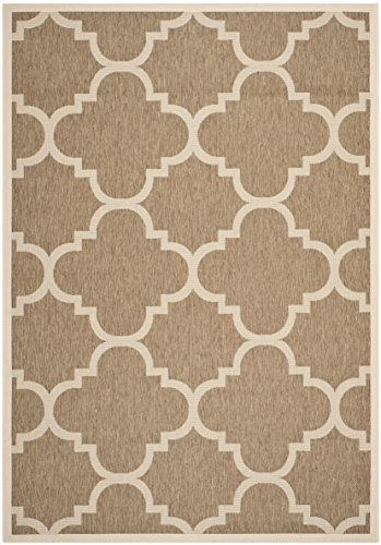Safavieh Courtyard Collection CY6243-242 Brown Indoor/ Outdoor Area Rug (6'7