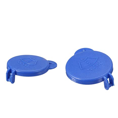 perfk Tapa de Botella de Lavadora de Parabrisas para Ford Fiesta MK6 Color Azul