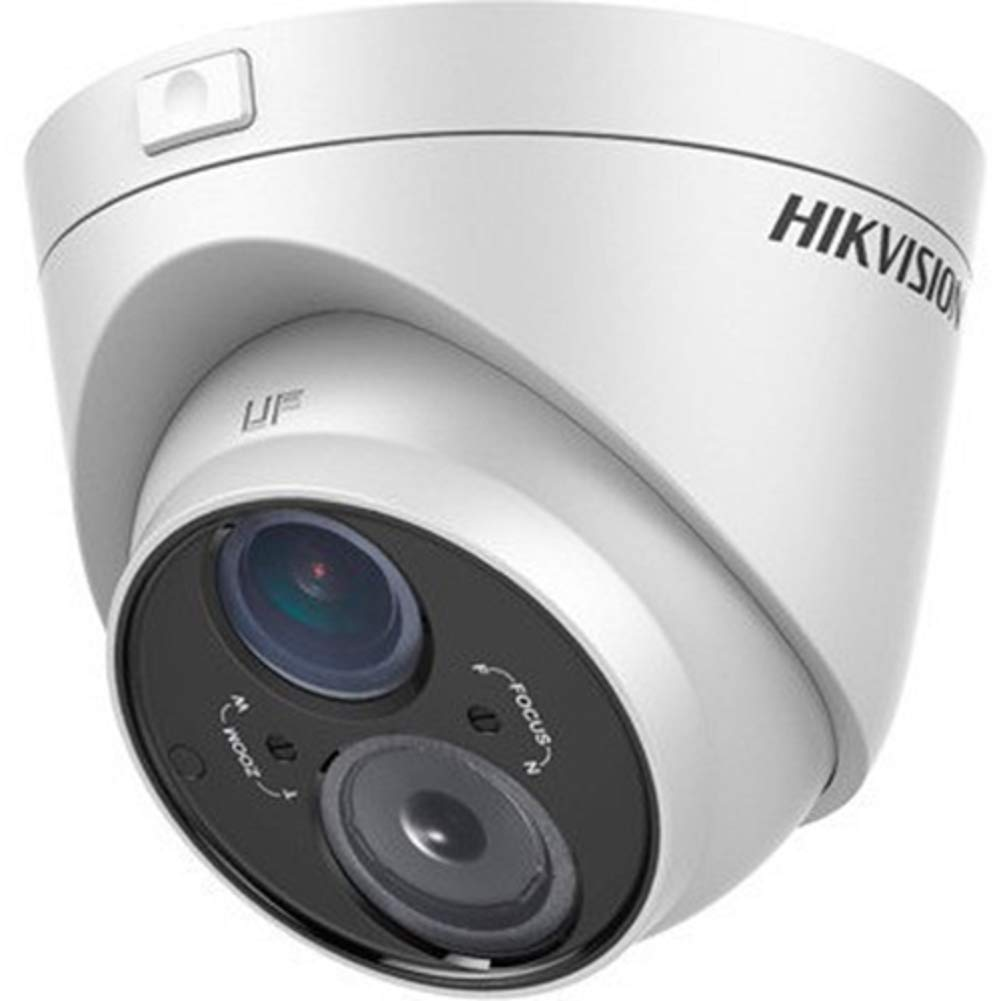 Hikvision DS-2CE56C5T-VFIT3 Outdoor Analog IR Turret Camera, HD720P, 2.8-12 mm Lens, 50M EXIR, Day/Night, DWDR, Smart IR, UTC Menu, IP66 Standard, 12VDC by Hikvision