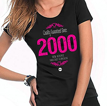 9c2160d7a Girls 18th Birthday T-Shirt, 1999 Girls Birthday Gift, Personalised 18th  Kepster Sheer Cotton T-Shirt: Amazon.co.uk: Kitchen & Home